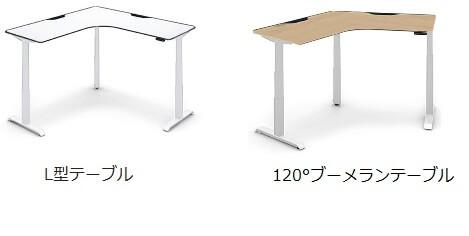 コクヨ SEQUENCE L型90° ブーメラン120° 天板タイプ