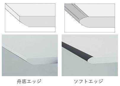 シークエンスの天板角エッジのタイプ