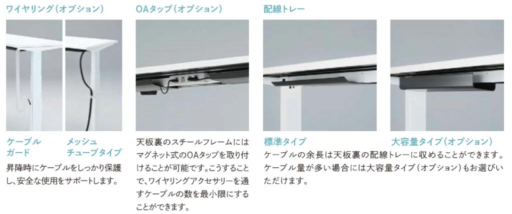 オカムラSwiftの配線オプション
