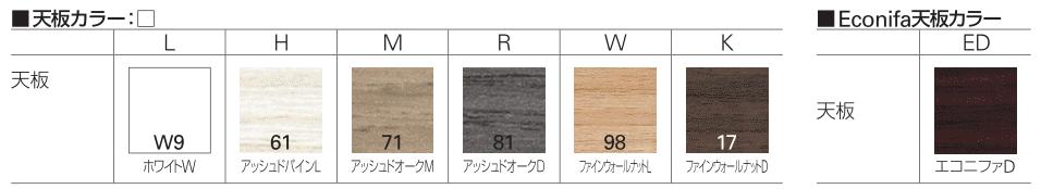 イトーキ トイロの天板カラーバリエーション