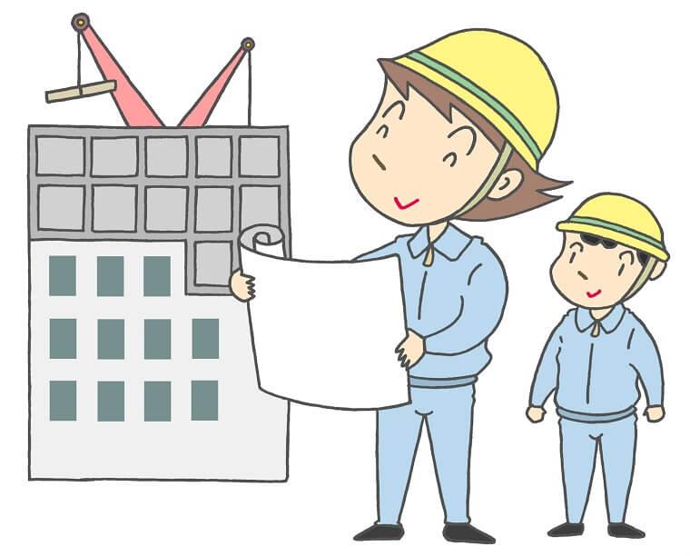ビルの設計、施工管理をする設計士