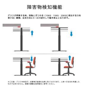 障害物検知機能が付いた安全設計スタンディングデスク