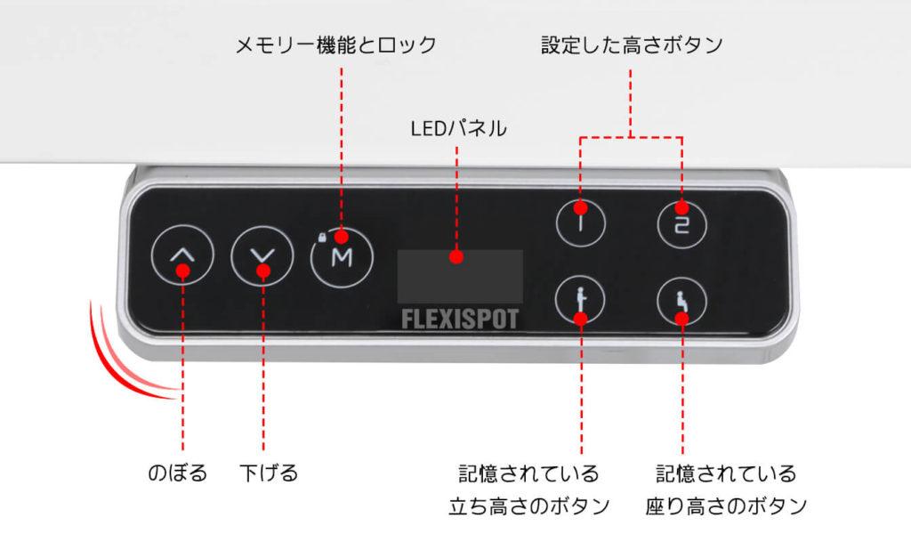 flexispot-e7のコントローラー