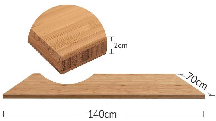 竹天板のサイズ寸法