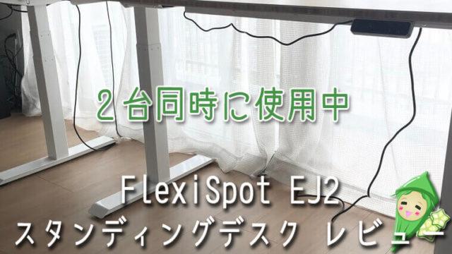 スタンディングデスクを2台使い「FlexiSpot EJ2」レビュー