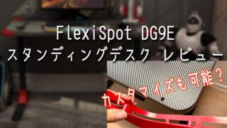 FlexiSpot「電動式ゲーミングスタンディングデスクGD9E」レビュー!カスタマイズもできちゃうデスク?